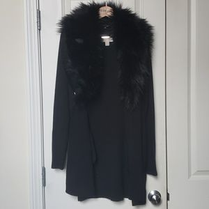 Michael Kors Fur Trim Cardigan